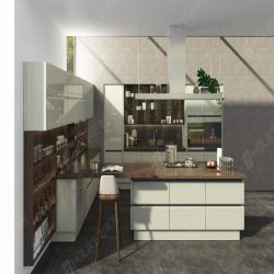 De Europese Stijl paste Witte MDF Dinerende Houten Keukenkast aan