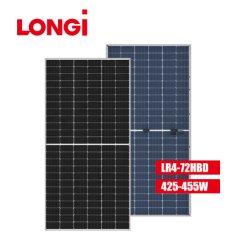 لوح لونجي ذو زجاج مزدوج بيانكي للطاقة الشمسية بقدرة 445 واط وسعة 450 واط للطاقة الشمسية النظام