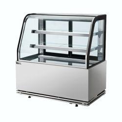 La longitud de 1,5 millones de pastel de Vidrio Curvo Contador con ventilador de refrigeración y el controlador digital