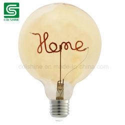 LED Globe décoratif à simple filament lampe vintage avec teinte orange