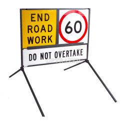 09 Aus la seguridad del tráfico de mensajes múltiples reflectante Corflute marco de la construcción de carreteras signos