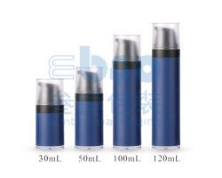 Пескоструйная обработка цвета 100мл косметический упаковка Airless расширительного бачка с буртиком крышки