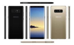 도매점 중고 스마트폰 잠금 해제 휴대전화 삼성 노트북8 N950f One 년 보증
