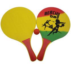Рекламные деревянные Бич рэкет Bat с шаровым шарниром, Пляж теннисную ракетку, пляжные Игры деревянные игрушки пляж ракетку с шаровым шарниром