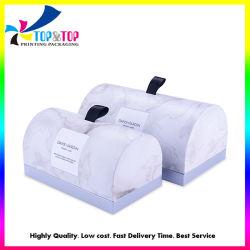 Commerce de gros carton blanc Personnalisé Papier de cadeau des conteneurs de l'emballage de bougie Arch cosmétique Insérer une case avec ruban