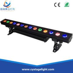 غسالة LED خارجية عالية الجودة سعة 24×10 واط مزودة بتقنية RGBW 4×1 DMX مع جدار حماية خارجي