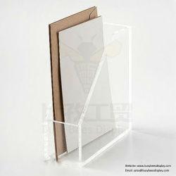 두껍게 격실 판매를 위한 투명한 아크릴 문서 저장 홀더 파일 북엔드