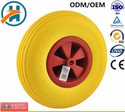 Una buena calidad de la rueda de carro de PU con borde de plástico