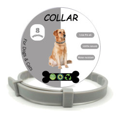 개, 조절 가능 및 방수 개 콜라에 대해 벼룩과 체크 표시를 합니다