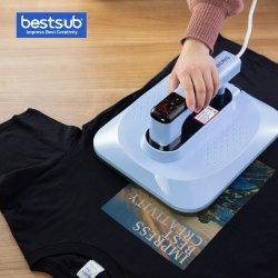 Hand van de Ambacht van Bestsub de Uitdrukkelijke Mini Kleine - de gehouden Draagbare Machine van de T-shirt van de Druk van de Overdracht van de Pers van de Hitte van de Producten van de Sublimatie