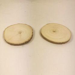 Fsc Log coupes de bois naturel DIY Coaster avec l'écorce