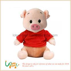 Customized Logo Schöne Rosa Gefüllte Tier Schwein Spielzeug