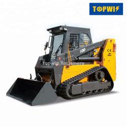 La meilleure qualité Topwin Mini chargeuse à direction à glissement Prix compact Diesel
