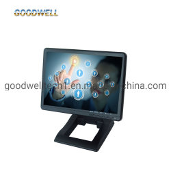Une entrée VGA DVI HDMI panneau IPS écran tactile du moniteur LCD 1024X 600 10.1 pouces moniteur à écran tactile