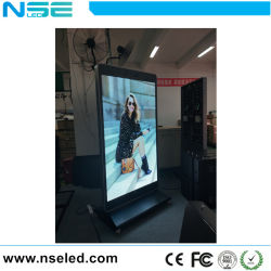 Alto brillo Póster interior pantalla LED de aluminio