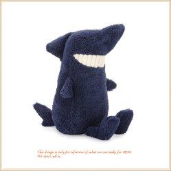 Акула Toothy фаршированные синий животных мягкие игрушки кукла акул