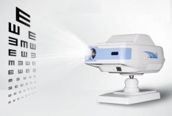 Gráfico de auto proyector para la Prueba de visión