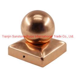 Topos de esferas material metálico régua de madeira Post cobre da PAC