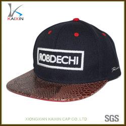 Custom 3D вышивка акриловый Snakeskin края Snapback шапки и крышки