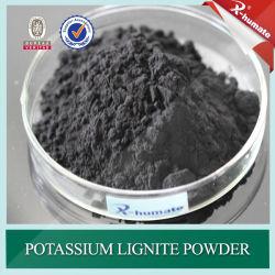 Poudre de lignite de potassium pour l'huile de boue de forage additif