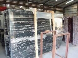 Chinois Silver-Dragon en marbre noir/blanc pour revêtements de sol et mur