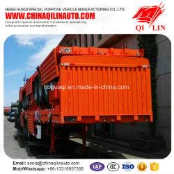 De Open Semi Aanhangwagen van de zijgevel voor Container of Lading stortgoed