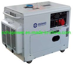 7.5/8.0 gerador diesel silenciosa igual potência com um ventilador de refrigeração