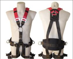 La construction de l'équipement complet du corps de l'escalade de harnais de sécurité réfléchissant