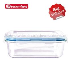 Preparación de Comidas de borosilicato de contenedor de almacenamiento de alimentos/vidrio Lunch Box a prueba de fugas de microondas mantener segura la caja de almacenamiento fresco