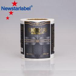 Enduit imperméable UV Custom Die Cut étiquette du logo autocollant de vinyle de l'impression
