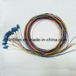LC/Upc Sm 12 цветов оптоволоконным кабелем для подключения волоконно-отвода
