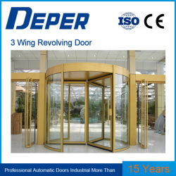 Porte tournante trois portes et quatre ailes