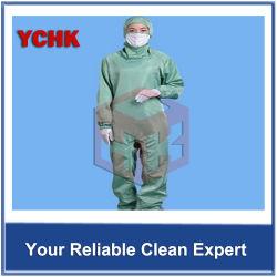 帯電防止合接された衣服のクリーンルームのきれいな衣服のフード付きの衣類