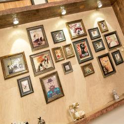 アメリカのレトロの写真の壁の装飾ヨーロッパの固体木製の写真フレーム 壁一体型リビングルームクリエイティブフォトの背景壁