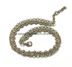 Handgemachte Messingkugel-Kette/Raupe-Kettenarmband mit Kreis-Link-Kette
