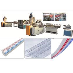 Tuyau PVC soft Net Making Machine / tuyau en PVC souple renforcé de fibre de ligne d'Extrusion/ tuyau flexible en plastique Machine pública Jardin