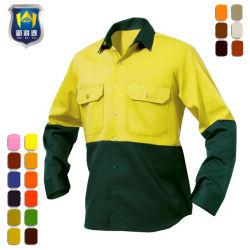 Ciao camicia riflettente di sicurezza del lavoro di estate di forza con il manicotto lungo