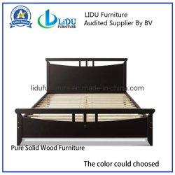 Marco de la cama cama de madera de cerezo oscuro Bastidor - Marco de la Cama Tamaño Queen de la base de colchón de la plataforma de madera de pino Muebles de Dormitorio