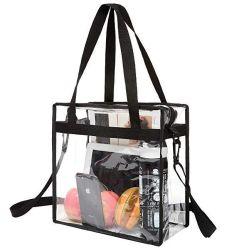 Sacchetti di plastica liberi della maniglia del PVC del sacchetto di Tote della spiaggia del vinile con la chiusura lampo