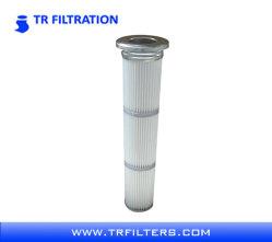 Poliéster de pulso largo cartucho de filtro de pliegues con membrana de PTFE