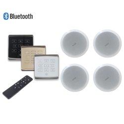 接触キーおよび4つの天井のスピーカーのサポートUSB/SD/Aux/Bluetoothが付いているスマートなホームオーディオ・システム4X25Wの無線壁に取り付けられたアンプ
