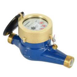 작은 바디 R160 다중 제트기 물 미터 최고 건조한 유형 바람개비 바퀴 Watermeters 종류 C