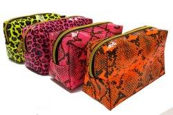 подарок для продвижения Популярные дизайн косметические мешки животных Leopard и змеиной кожи ход печати мешки для макияжа