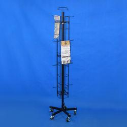 Fil d'acier permanent plancher Tablier métallique Rack Spinner (affichage PHY2060)