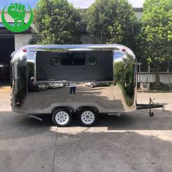 Camión de la concesión de acero inoxidable carro móvil de alimentos