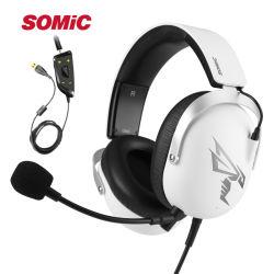 Somic G805 Einfassung USB-7.1 - fehlerfreie Spiel-Kopfhörer-Geräusche, die Kopfhörer mit abnehmbarem Mic für Computer beenden