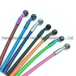 Tampa de PVC coloridos 3,2mm Tubo do núcleo de PTFE de aço inoxidável trançado Racing Rouber tubo flexível de travão da mangueira