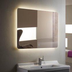 ホテルの長方形円形の壁に取り付けられた装飾的なミラーLEDによってバックライトを当てられるつけられたミラーLEDの浴室ミラー
