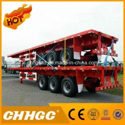 40 ton 3 de Container van Assen/het AutoPlatform van de Vervoerder/Flatbed Semi Aanhangwagen