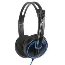 Tampão de Ouvido duplo com Microfone fone de ouvido do computador sobre as orelhas